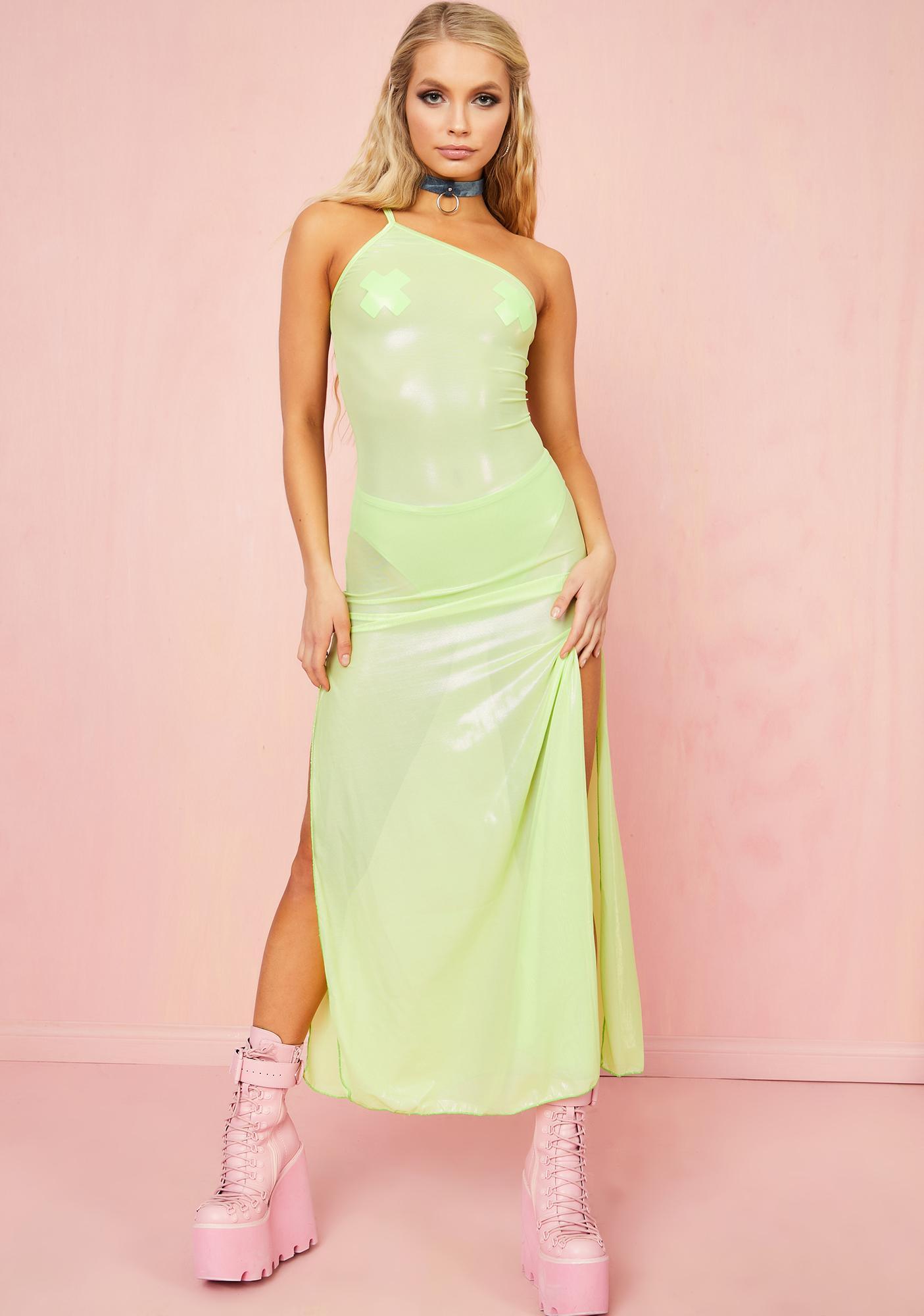 Sugar Thrillz Tropical Getaway Mesh Dress