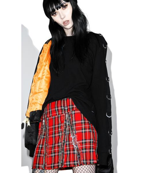 Tripp NYC All Over Safety Pin Skirt