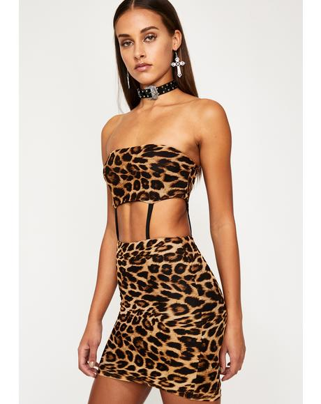 Feelin' Exxxtra Leopard Dress