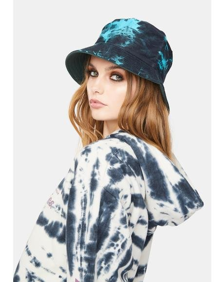 Navy Always Crashin' Tie Dye Bucket Hat