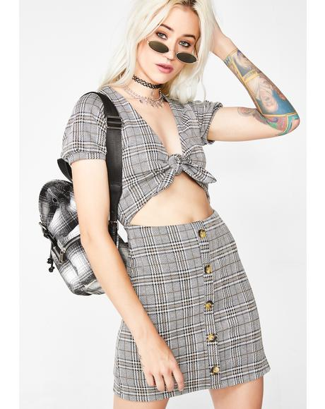 Repeat Offender Plaid Dress