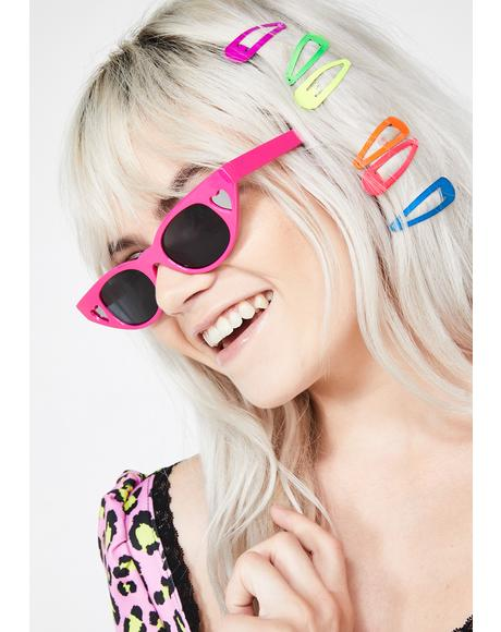 Love Tease Heart Sunglasses