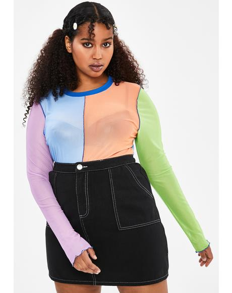 Your Twisted Sister Mesh Top