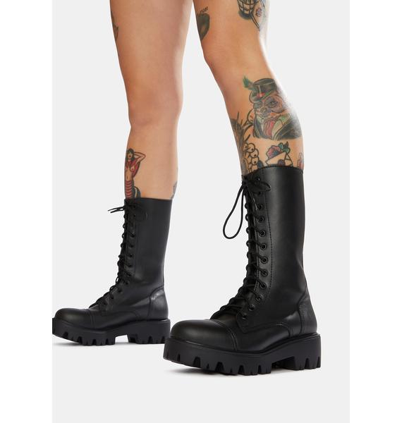Altercore 666 10-Eye Vegan Leather Boots