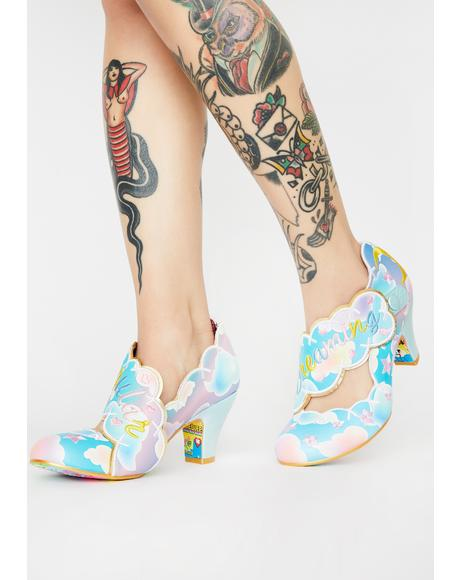 Irregular Dreaming Cloud Heels