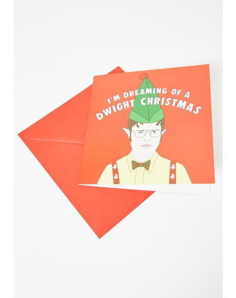 I'm Dreaming Of A D-Wight Xmas Card