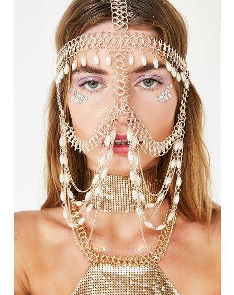 Elegant Seductress Face Chain