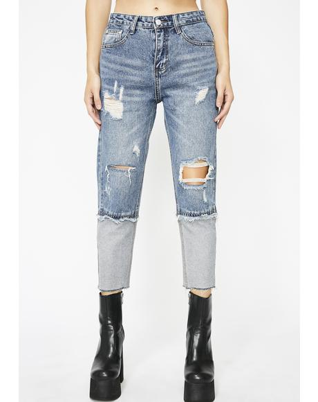 Extreme Caution Crop Jeans