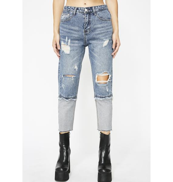 Extreme Caution Crop Jeans