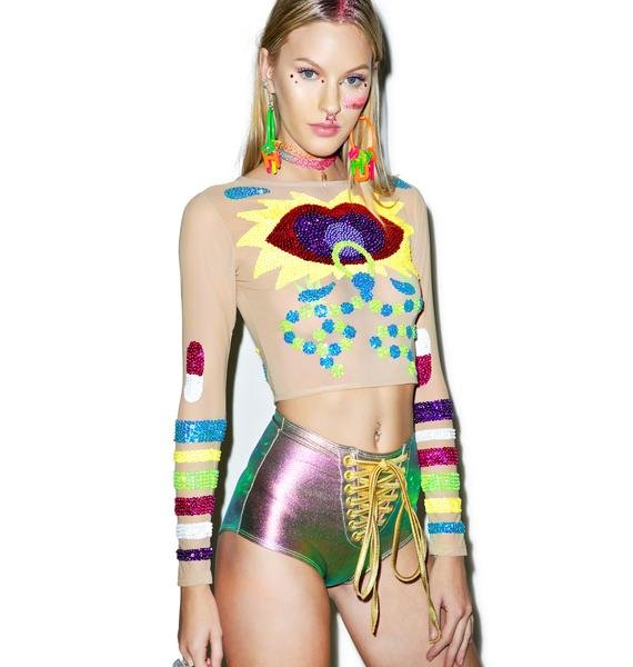 This Is A Love Song Rave Baby Crop Top