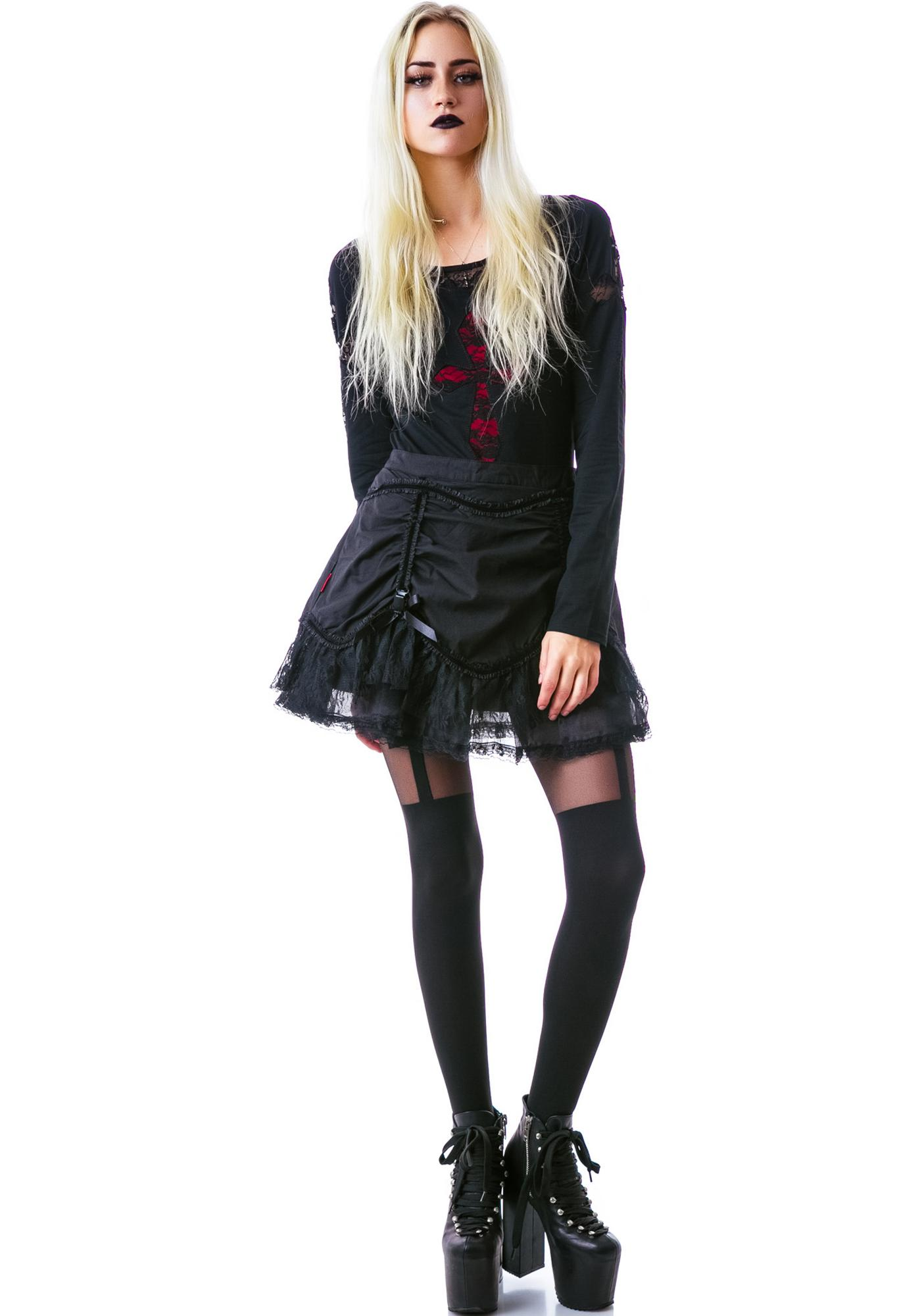 All Hallows Eve Lace Miniskirt