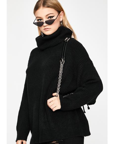 Noir Warm Welcome Turtleneck Sweater