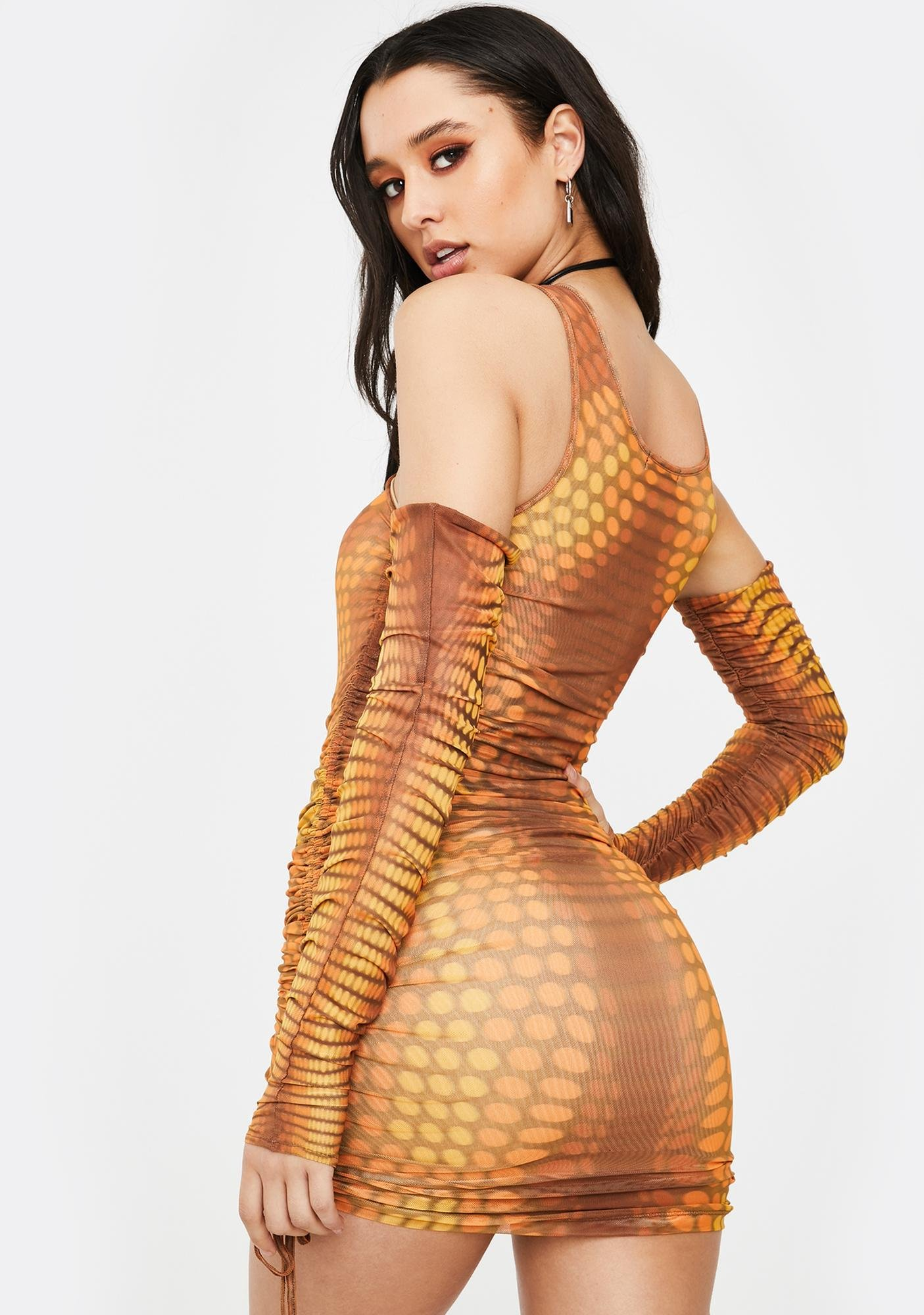 Poster Grl Glow New Money Mesh Dress
