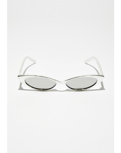 Platinum Box Seats Skinny Sunglasses
