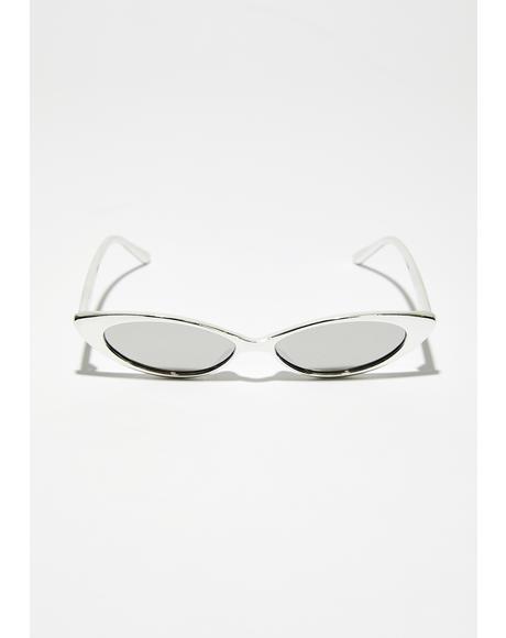 Platinum Box Seats Skinny Sunglasses