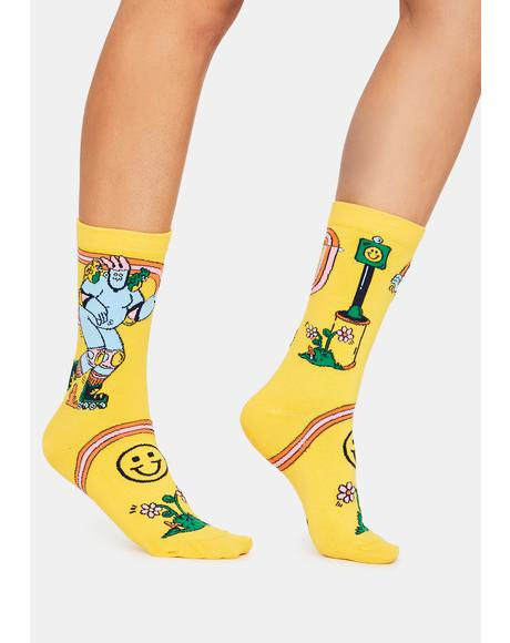 x Dreyfus Skate Day Crew Socks