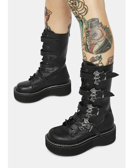 Creature Of Hell Platform Lace Up Boots