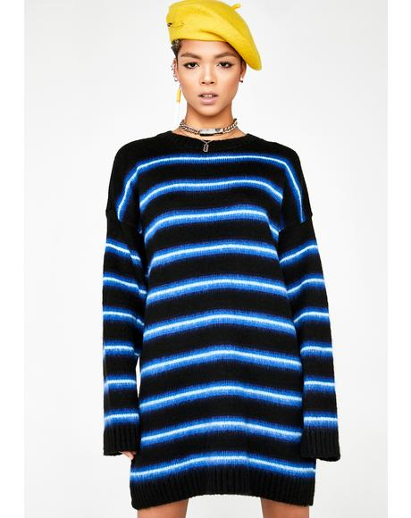 Stripe Brush Knit Dress