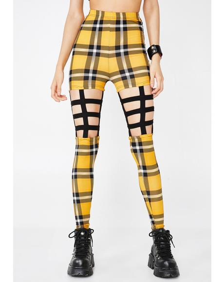 Most Disruptive Plaid Cage Leggings