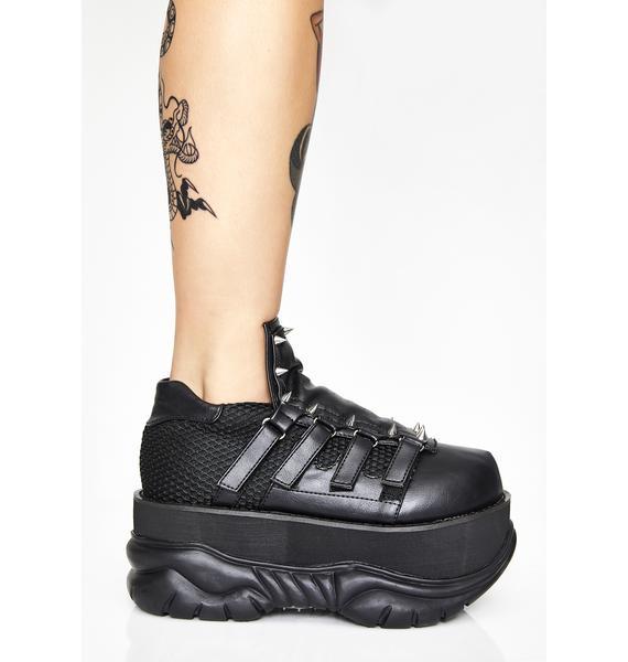 Demonia Punk Neptune Platform Sneakers