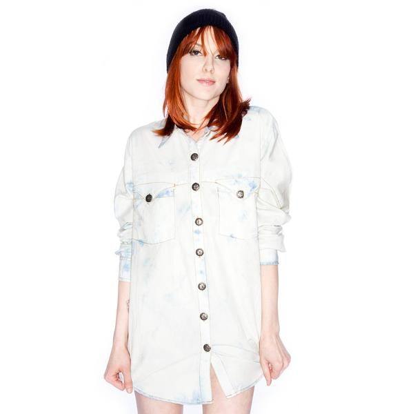One Teaspoon Resist Chambray Oversized Shirt