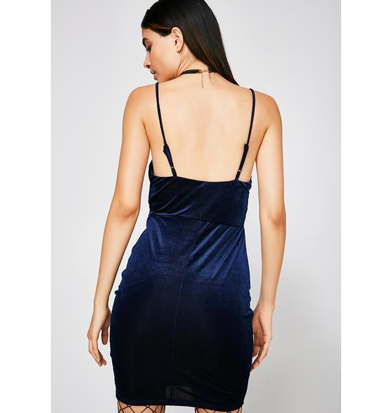Breakin' Ties Velvet Dress