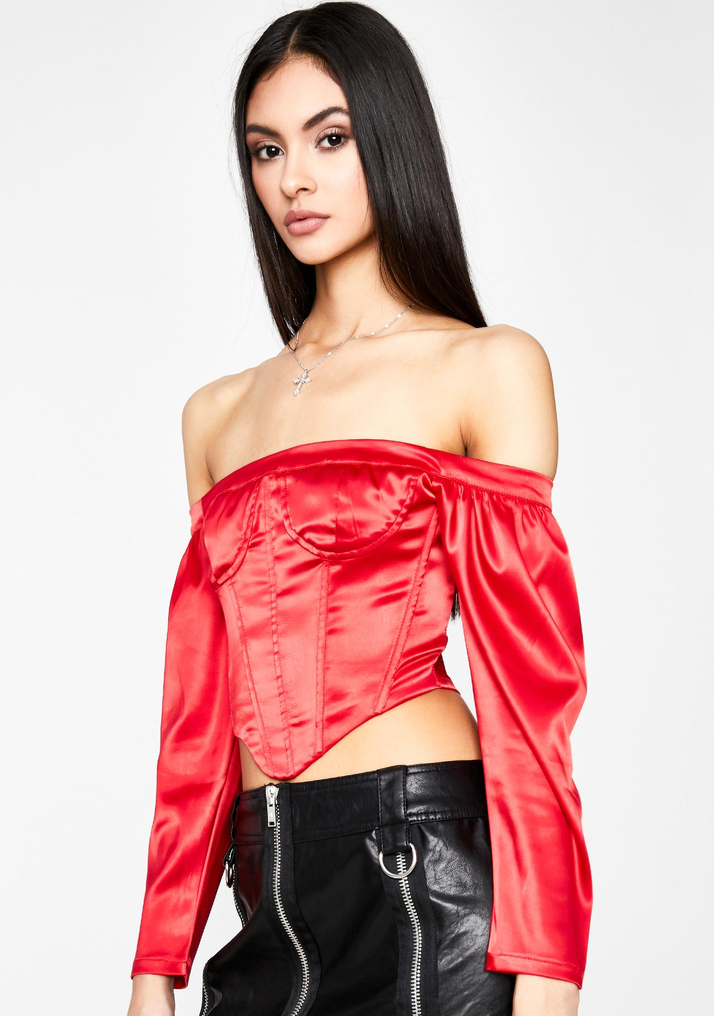 Scarlet Blinding Emotion Crop Top