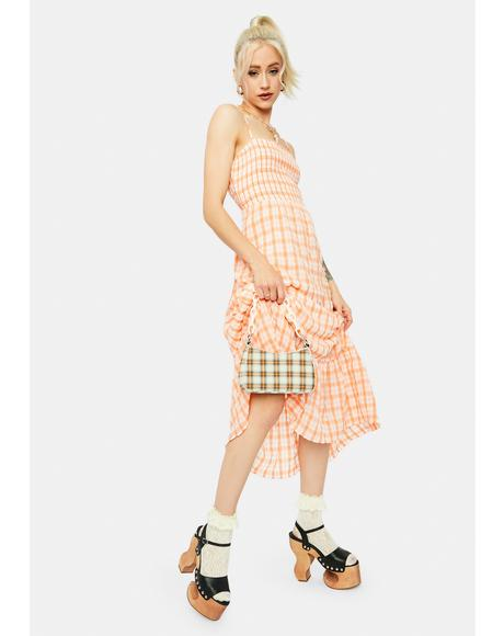 Heart Leads To You Plaid Midi Dress