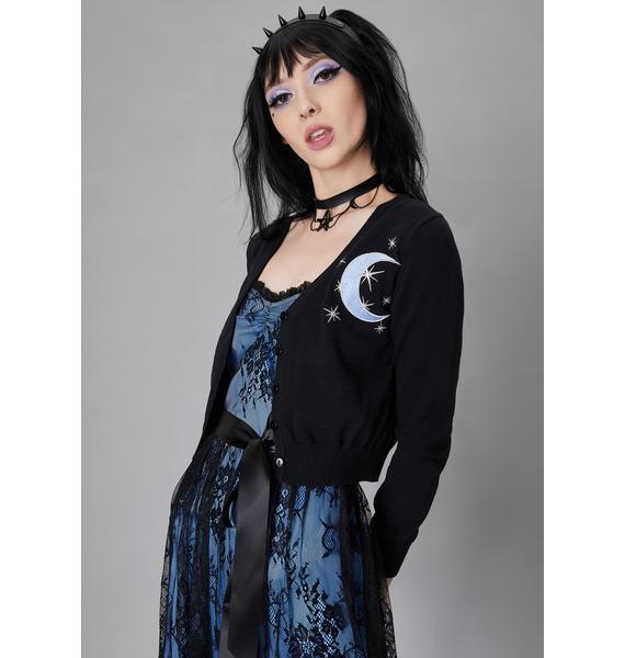 Widow Moon Mistress Embroidered Cardigan