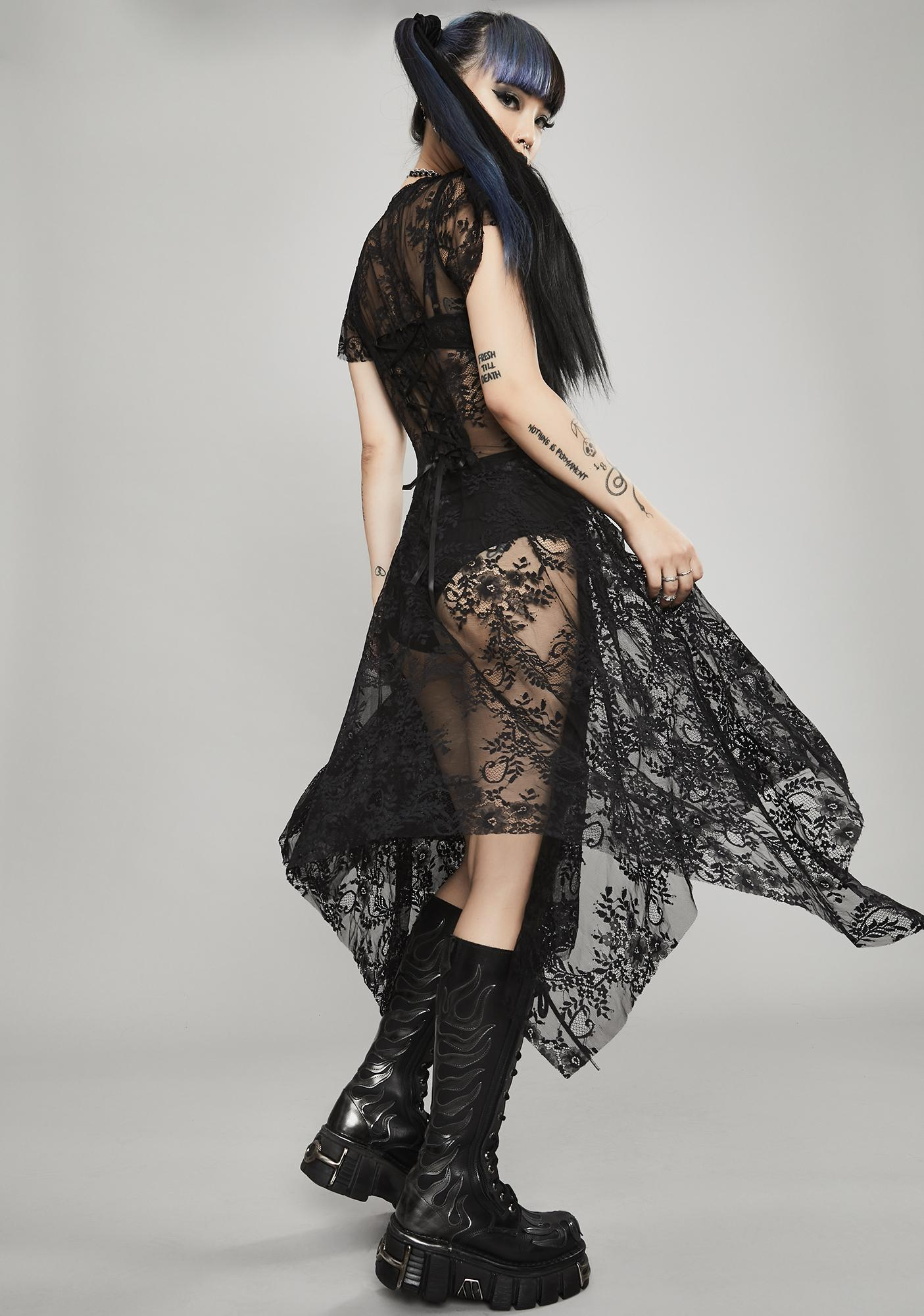 Widow Noir Dearly Departed Lace Dress