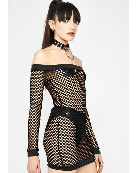 Dark Remix Fishnet Dress