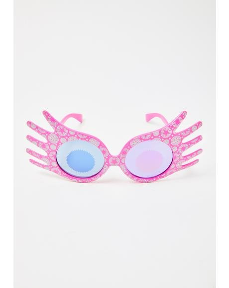 Pink Hello Fun Hand Sunglasses