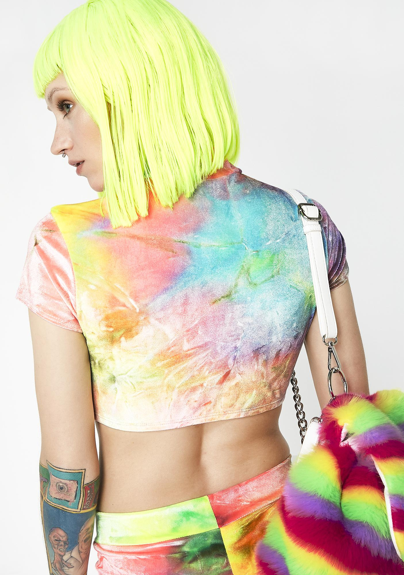 Sugarpuss Brain Candy Velvet Crop Top