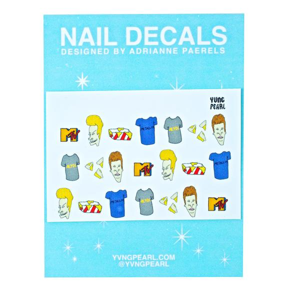 Yvng Pearl Uh Hey Baby Nail Decals