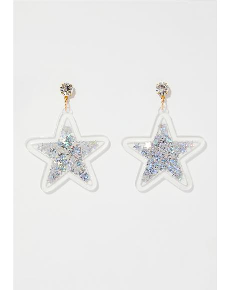 Catch A Star Glitter Earrings