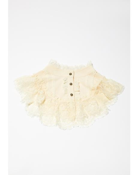 Ivory Heads Will Roll Lace Collar