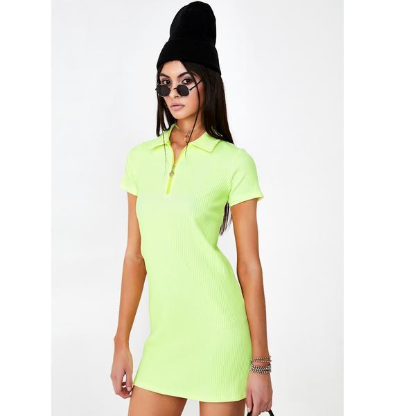 Why Not Us Lemon Tennis Dress