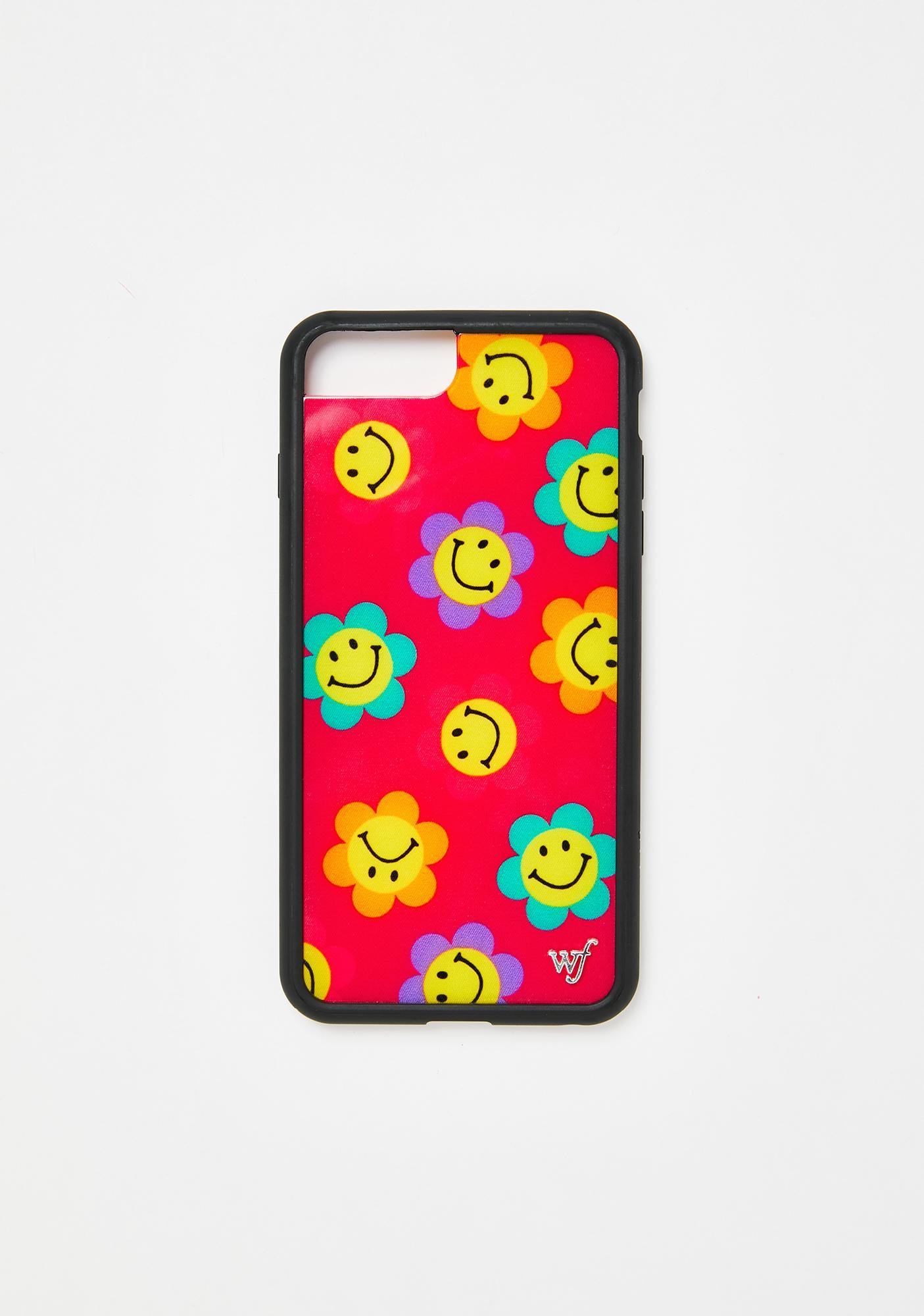 Wildflower Magenta Smiles iPhone Case