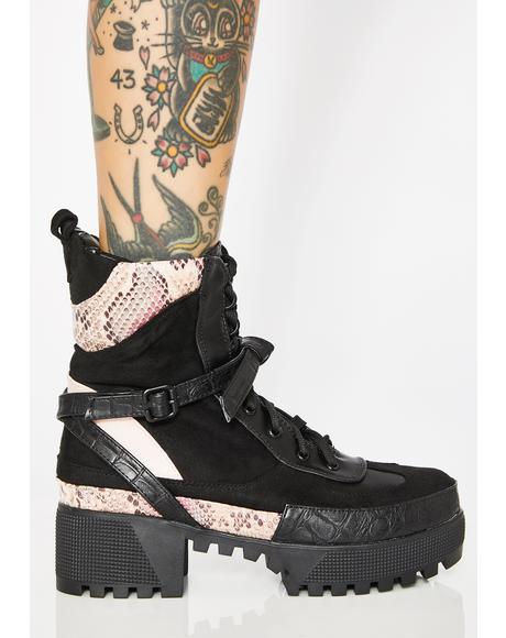 Wild Decline Platform Boots
