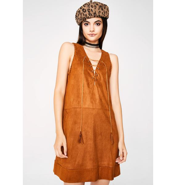 Woodstock Babe Suede Dress