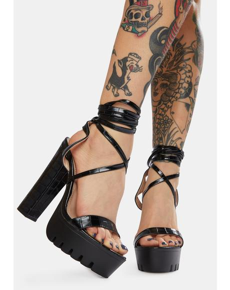 Late Take Me Out Lace Up Platform Sandals