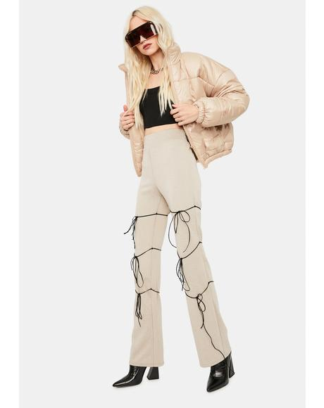 Taupe Taking Names Tied Flares