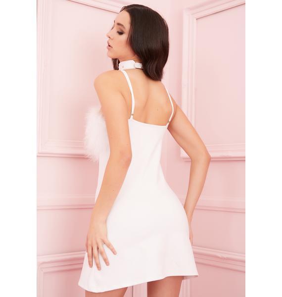 Sugar Thrillz Angel Flirty N' Thriving Marabou Dress