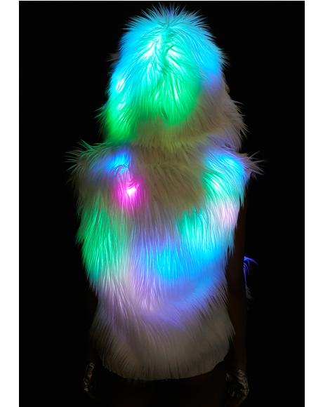 Flashing Lights Hooded Vest