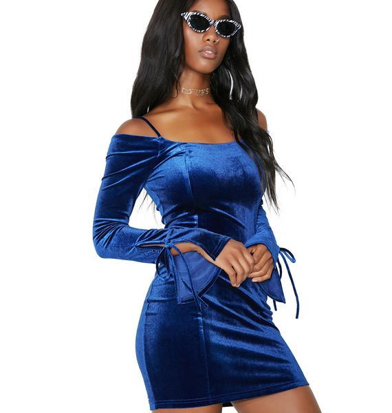 Own The Night Velvet Off-Shoulder Dress