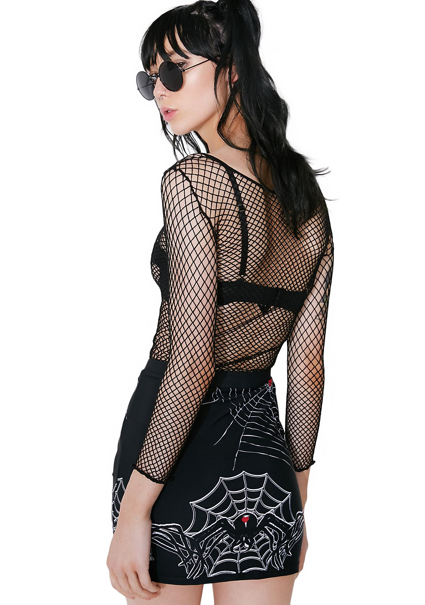 Black Widow Mini Skirt