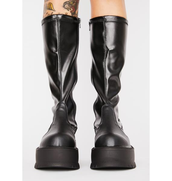 Demonia Slacker Knee High Boots