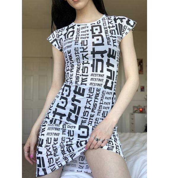 Cute Mistake Lessons On Lessons Mini Dress