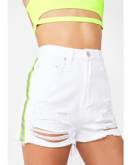 Pure Headlight Haze Denim Shorts