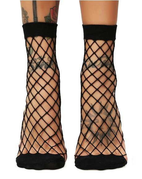 Evil Troublemaker Fishnet Socks